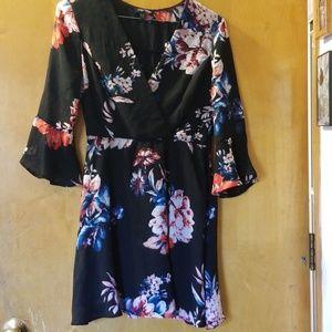 Long  bell sleeve dress